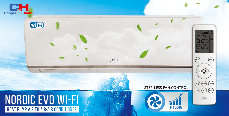Кондиционеры C&H Nordic Evo II (Wi-Fi, Inverter)